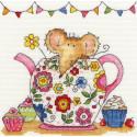 Мышка в чайнике Набор для вышивания Bothy Threads