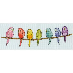 Попугайчики Набор для вышивания Bothy Threads XRO9
