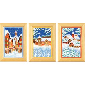 Зимняя ночь Набор для вышивания триптиха VERVACO PN-0155893