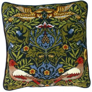 Птицы. Уильям Моррис Набор для вышивания подушки Bothy Threads TAC2