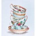 Бирюзовый чайные чашки Набор для вышивания Luca-S BA2325