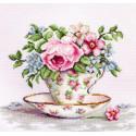 Цветы в чайной чашке Набор для вышивания Luca-S BA2321
