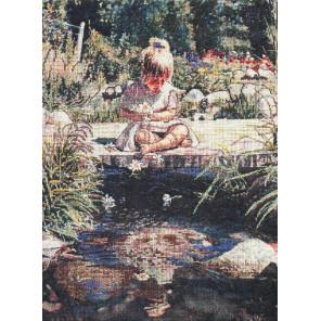 Девочка с цветами Набор для вышивания CANDAMAR DESIGNS 51160