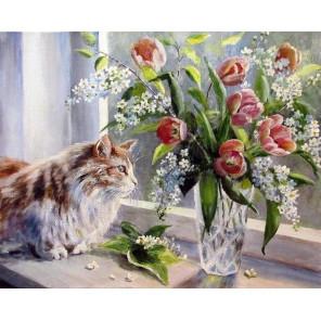 А за окном весна Раскраска картина по номерам на холсте GX29473