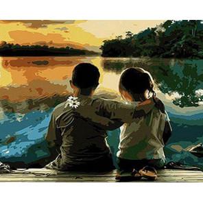 Первая влюбленность Раскраска картина по номерам на холсте GX28045
