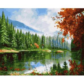 Таежная река Раскраска картина по номерам на холсте GX28060
