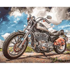 Харлей Раскраска картина по номерам на холсте GX29326
