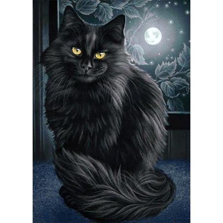 Черная кошка Алмазная вышивка (мозаика) Гранни