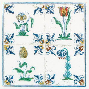 Античная плитка. Цветы Набор для вышивания Thea Gouverneur 485