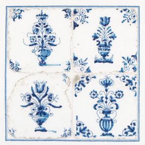 Античная плитка. Цветочные вазы Набор для вышивания Thea Gouverneur 483A