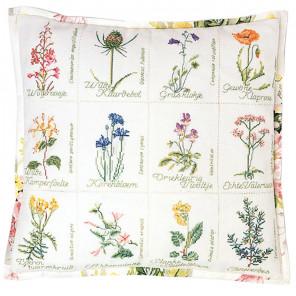 Полевые цветы Набор для вышивания подушки Thea Gouverneur 2074A