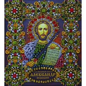 Святой Александр Невский Набор для частичной вышивки бисером Хрустальные грани ИИ-04