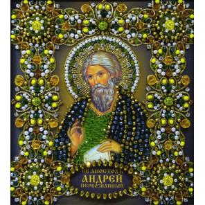 Святой Андрей Набор для частичной вышивки бисером Хрустальные грани ИИ-06