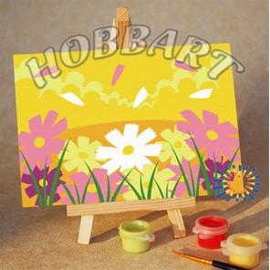 Количество цветов и сложность Солнечная лужайка Раскраска по номерам на холсте Hobbart M1015023-Lite