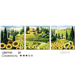 Количество цветов и сложность Подсолнуховое раздолье Раскраска по номерам на холсте Hobbart PH340120082-Lite