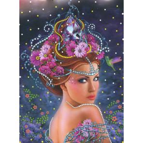 Королева цветов Алмазная вышивка термостразами Преобрана 0108