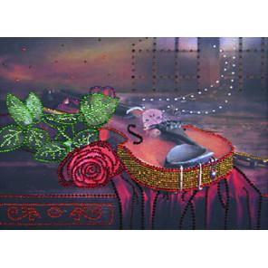 Вечерняя серенада Алмазная вышивка термостразами Преобрана 0119