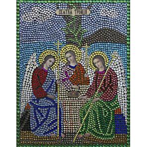 Святая Троица Алмазная вышивка термостразами Преобрана 0063