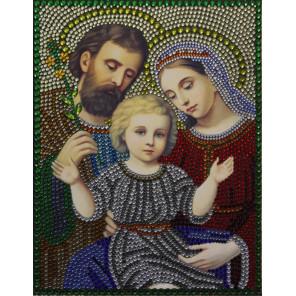 Святое Семейство Алмазная вышивка термостразами Преобрана 0069