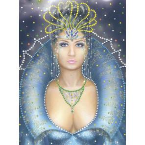 Снежная королева Алмазная вышивка термостразами Преобрана 0110