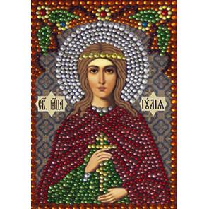 Святая мученица Иулия (Юлия) Алмазная вышивка термостразами Преобрана 0309