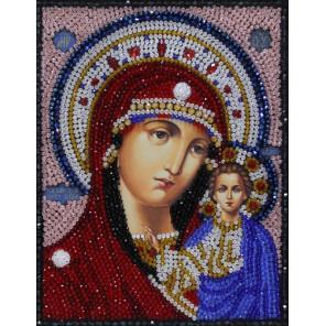 Казанская икона Божьей Матери Набор для вышивания бусинами Преобрана 2Б025