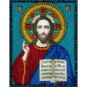 Икона Господь Вседержитель Набор для вышивания бусинами Преобрана 2Б052