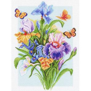 Весенняя радуга Канва с рисунком для вышивки Матренин посад