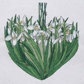 Подснежники сердце. Март Набор для вышивания Астрея (Глурия) 011