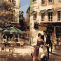 Городской пейзаж Раскраска по номерам на холсте