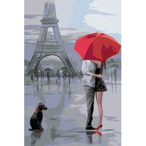 Под красным зонтом Раскраска картина по номерам на холсте FR06