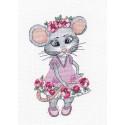 Мышка-вертихвостка Набор для вышивания Овен