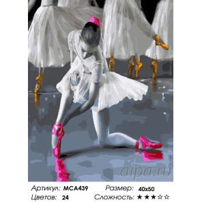 Количество цветов и сложность Балерины на сцене Раскраска картина по номерам на холсте МСА439