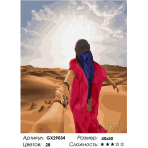 Следуй за мной. Сахара Раскраска картина по номерам на холсте GX29034