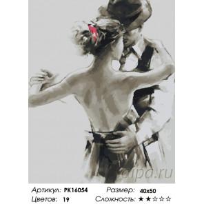 Количество цветов и сложность Танец нежности Раскраска картина по номерам на холсте PK16054