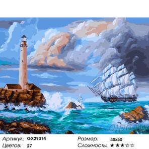 Количество цветов и сложность Маяк под живописным небом Раскраска картина по номерам на холсте GX29314