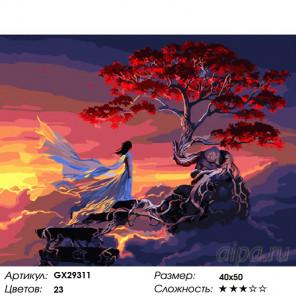 Количество цветов и сложность Древо жизни Раскраска картина по номерам на холсте GX29311