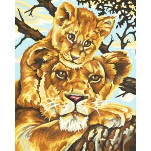 Львица с львенком Раскраска по номерам акриловыми красками Schipper (Германия)