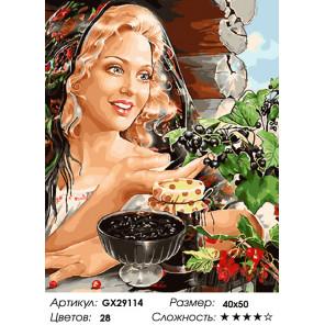 Количество цветов и сложность Лето на даче Раскраска картина по номерам на холсте GX29114