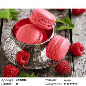Количество цветов и сложность Изысканный десерт Раскраска картина по номерам на холсте GX29043
