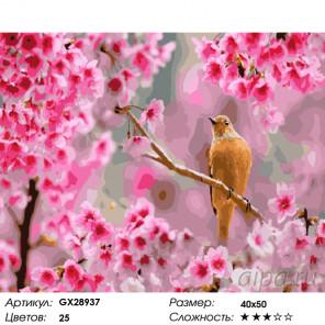Количество цветов и сложность Песни на рассвете Раскраска картина по номерам на холсте GX28937