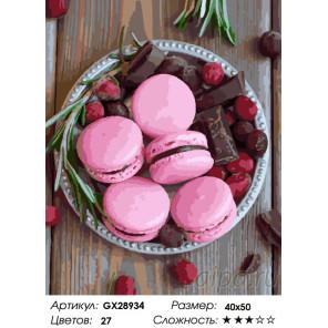 Количество цветов и сложность Сладости Раскраска картина по номерам на холсте GX28934
