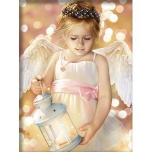 Ангел с фонариком Алмазная вышивка мозаика АЖ-1780