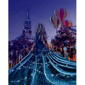 Праздничная Москва Картина по номерам люминесцентная LPK24014