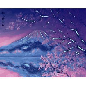 Фудзияма и розовая сакура Картина по номерам люминесцентная LPK22033