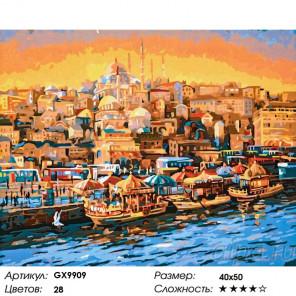 Сложность и количество цветов Порт турецкого города Раскраска картина по номерам на холсте GX9909