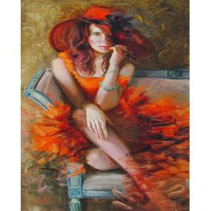 Дама в красном Раскраска картина по номерам на холсте МСА371