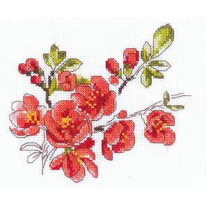 Веточка цидонии Набор для вышивания Риолис 1819