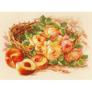 Сочный персик Набор для вышивания Риолис 1827