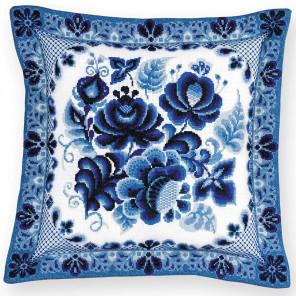Гжель Панно/подушка Набор для вышивания Риолис 1830
